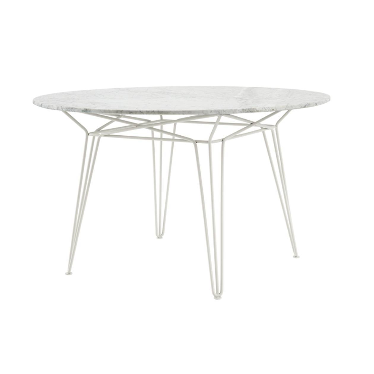 Parisi Dining Table: White + White Marble