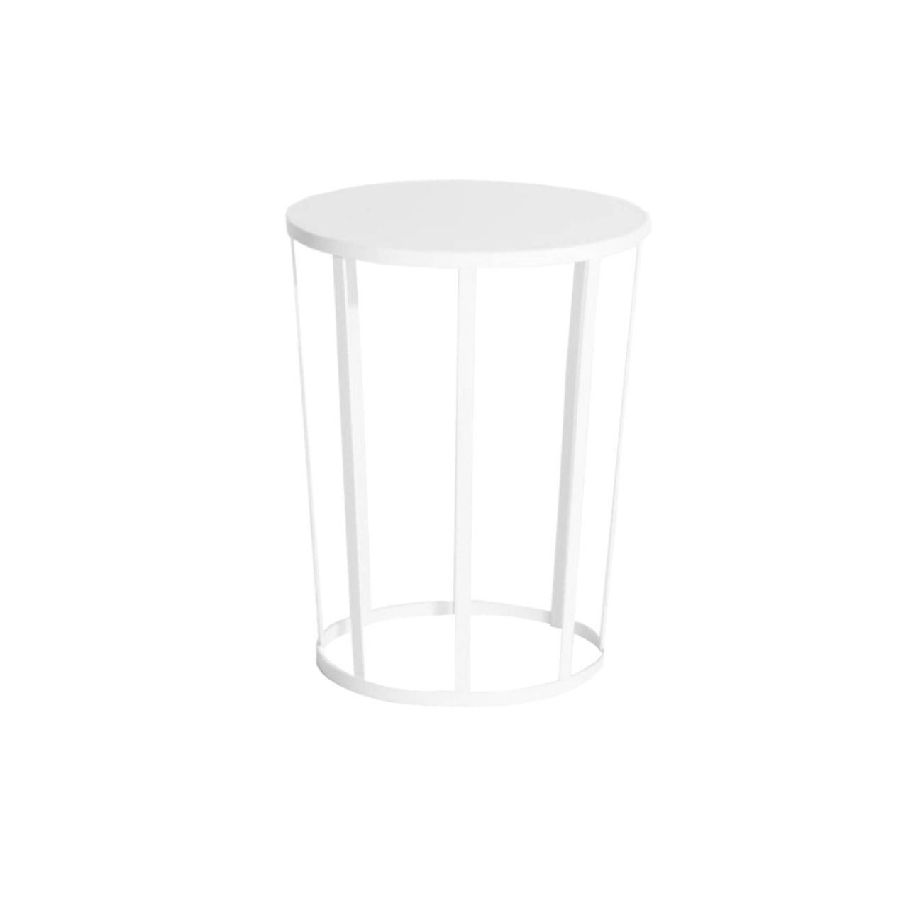 Hollo Side Table/Stool: White