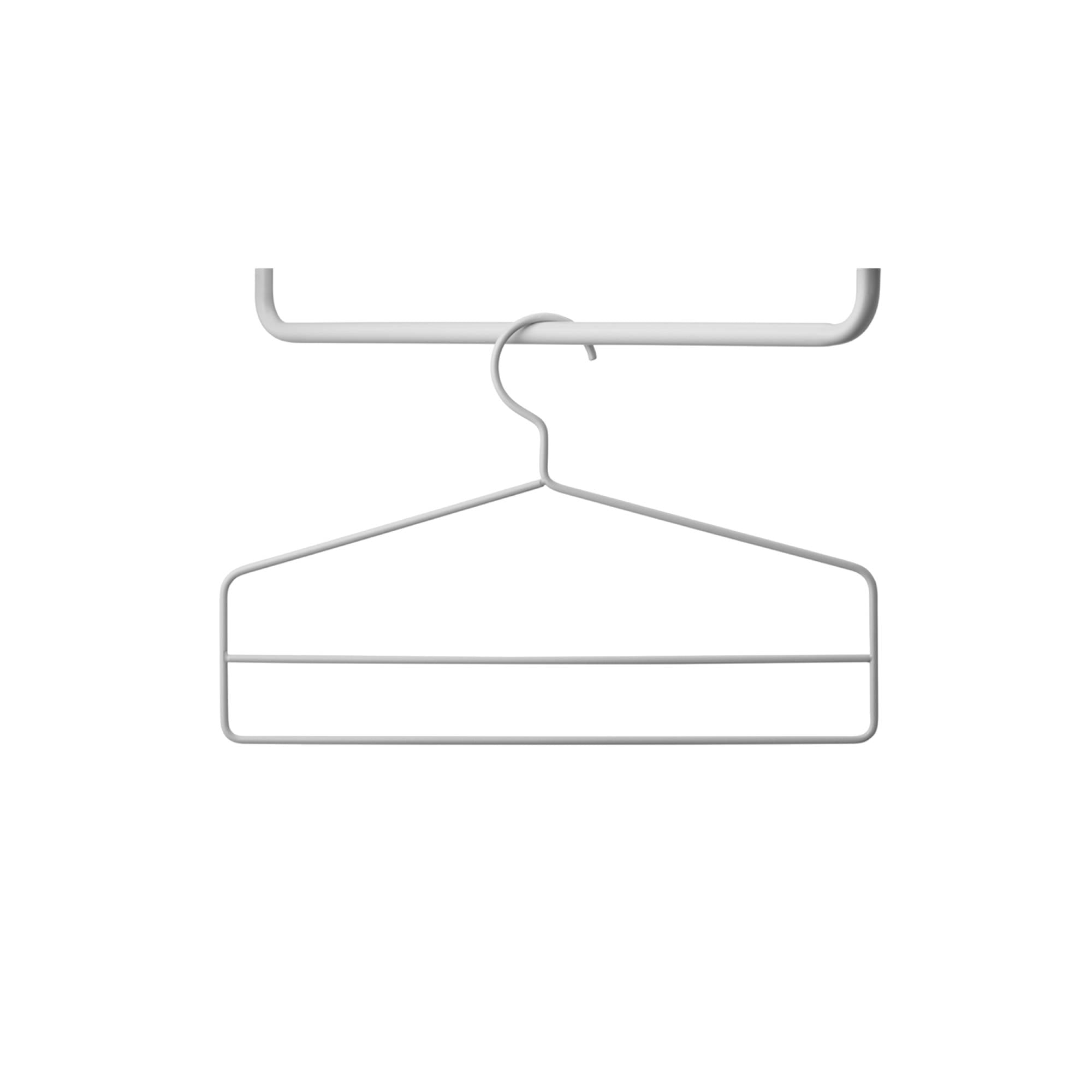String System: String+ Accessories + Coat Hanger (4 Pack) + Grey