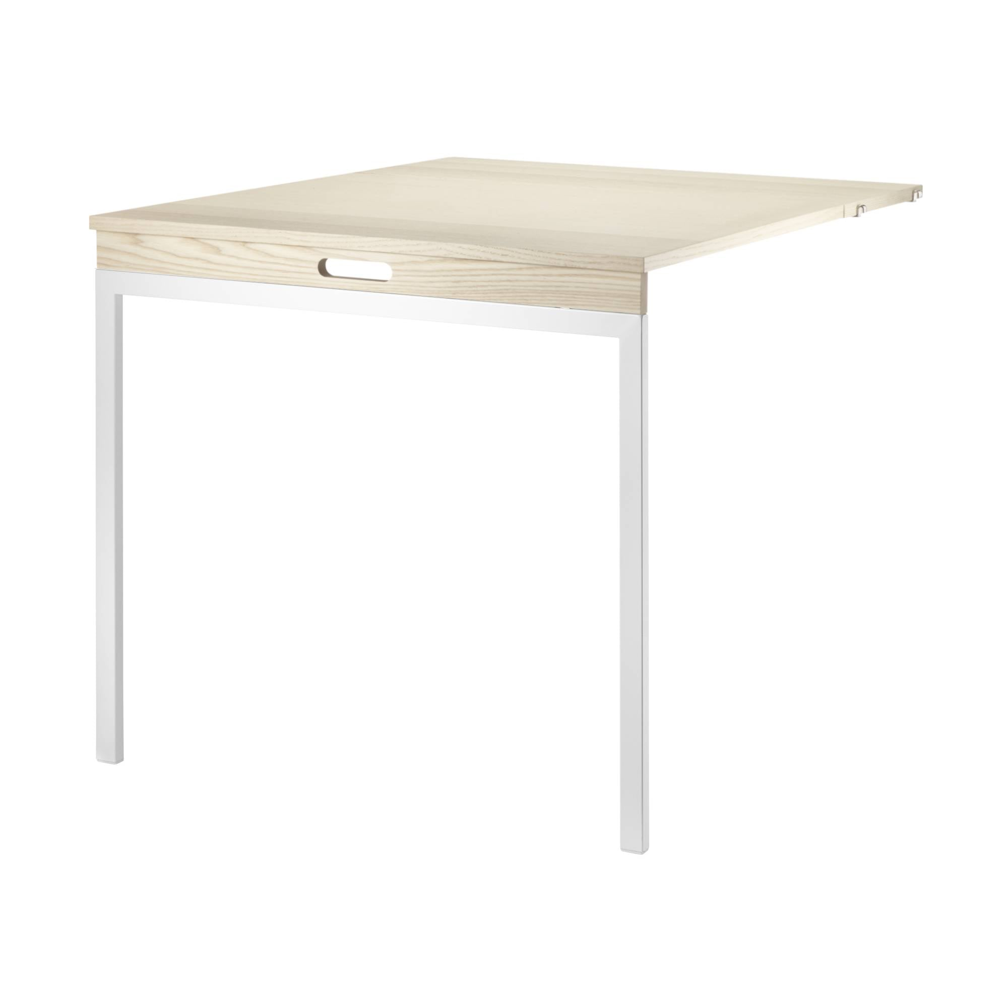 String Shelving System Folding Table: Ash + White Legs