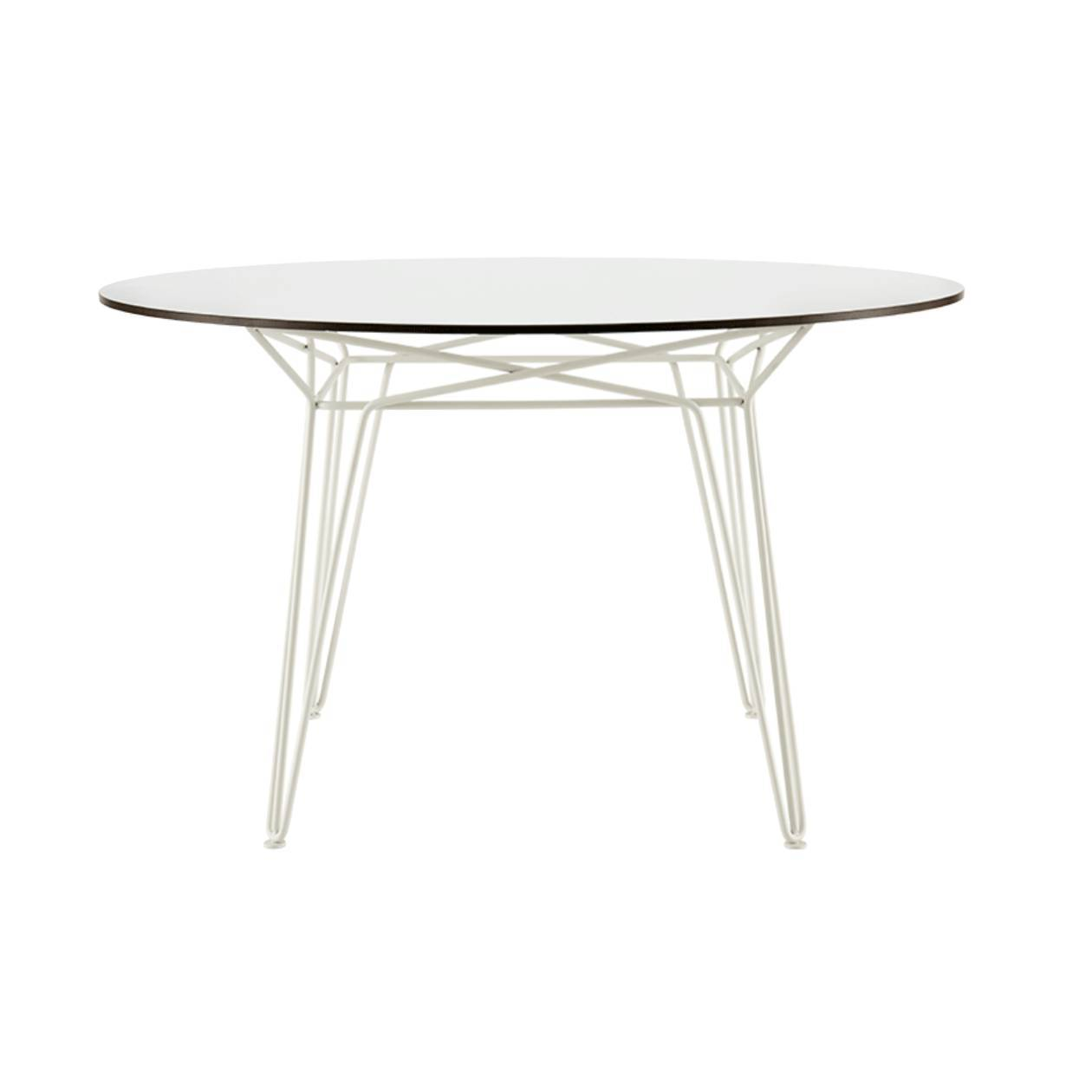 Parisi Dining Table: White + White Laminate