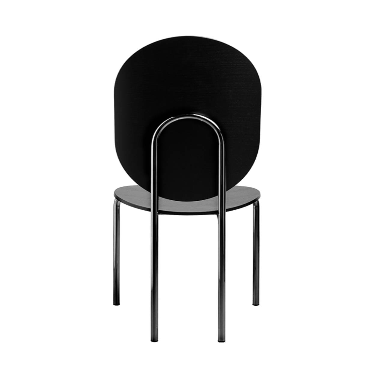 Michelle High Back Chair: Carbon Stained Ash + Black Chrome