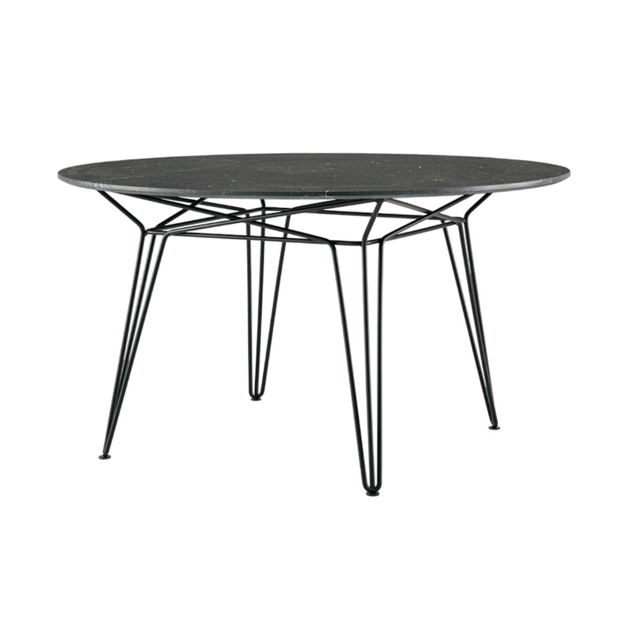 Parisi Dining Table: Black + Black Marble