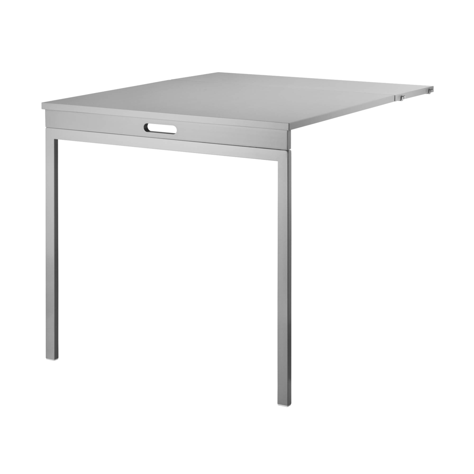 String Shelving System Folding Table: Grey + Grey Legs