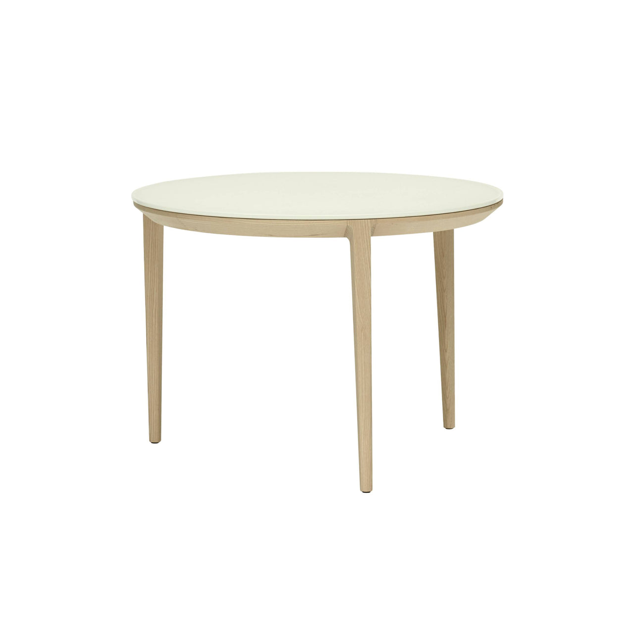 Etoile Side + Coffee Table: Small + Natural Stained Ash + Etched White Glass
