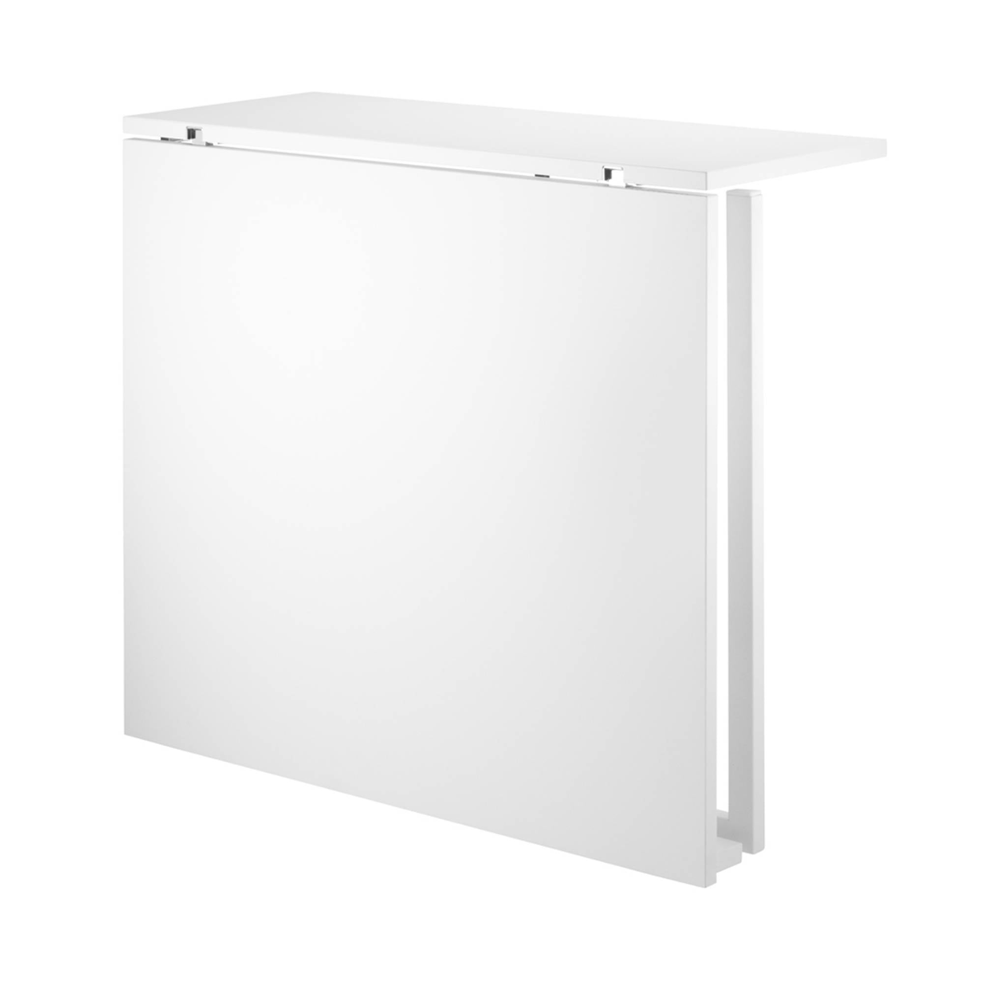 String Shelving System Folding Table: White + White Legs