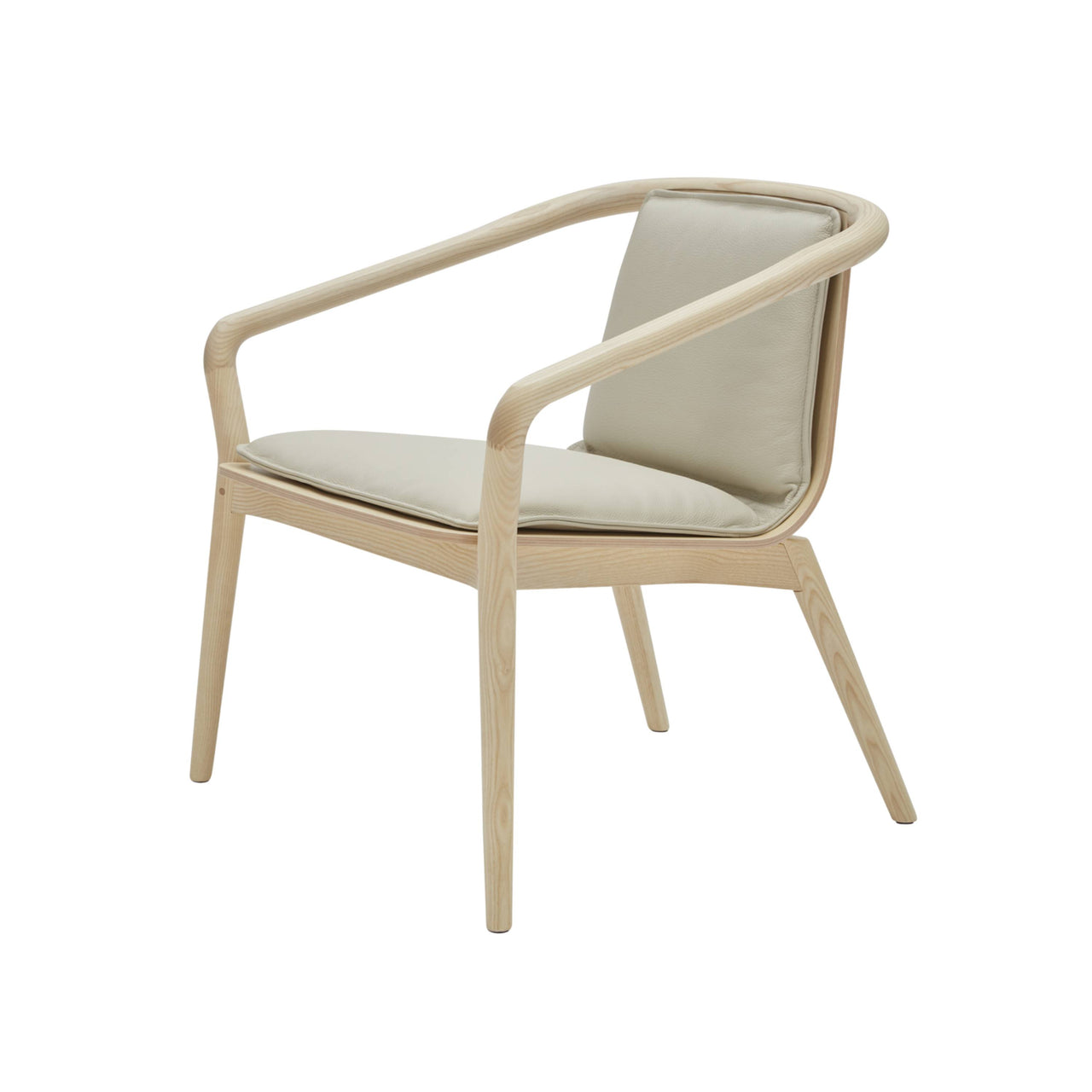 Thomas Armchair: Upholstered + Natural Stained Ash