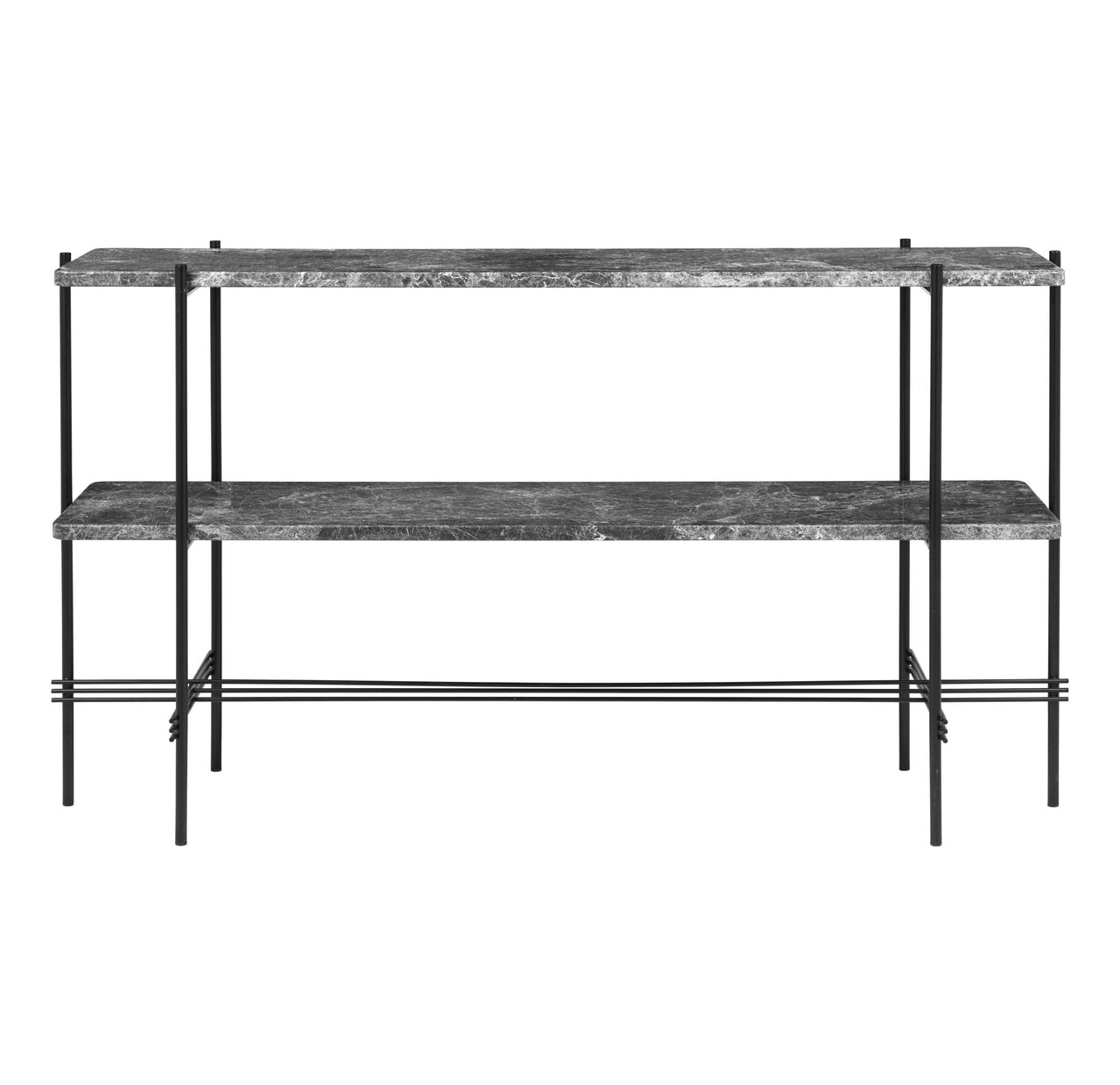 TS Console: 2 Racks + Black Base + Grey Emperador Marble