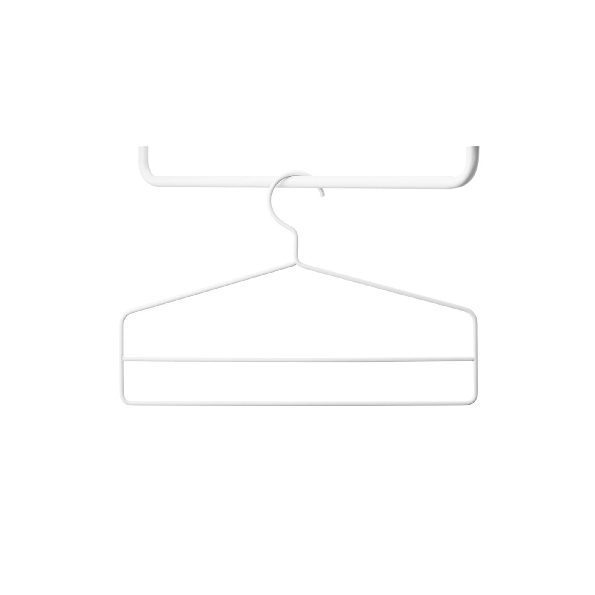 String System: String+ Accessories + Coat Hanger (4 Pack) + White