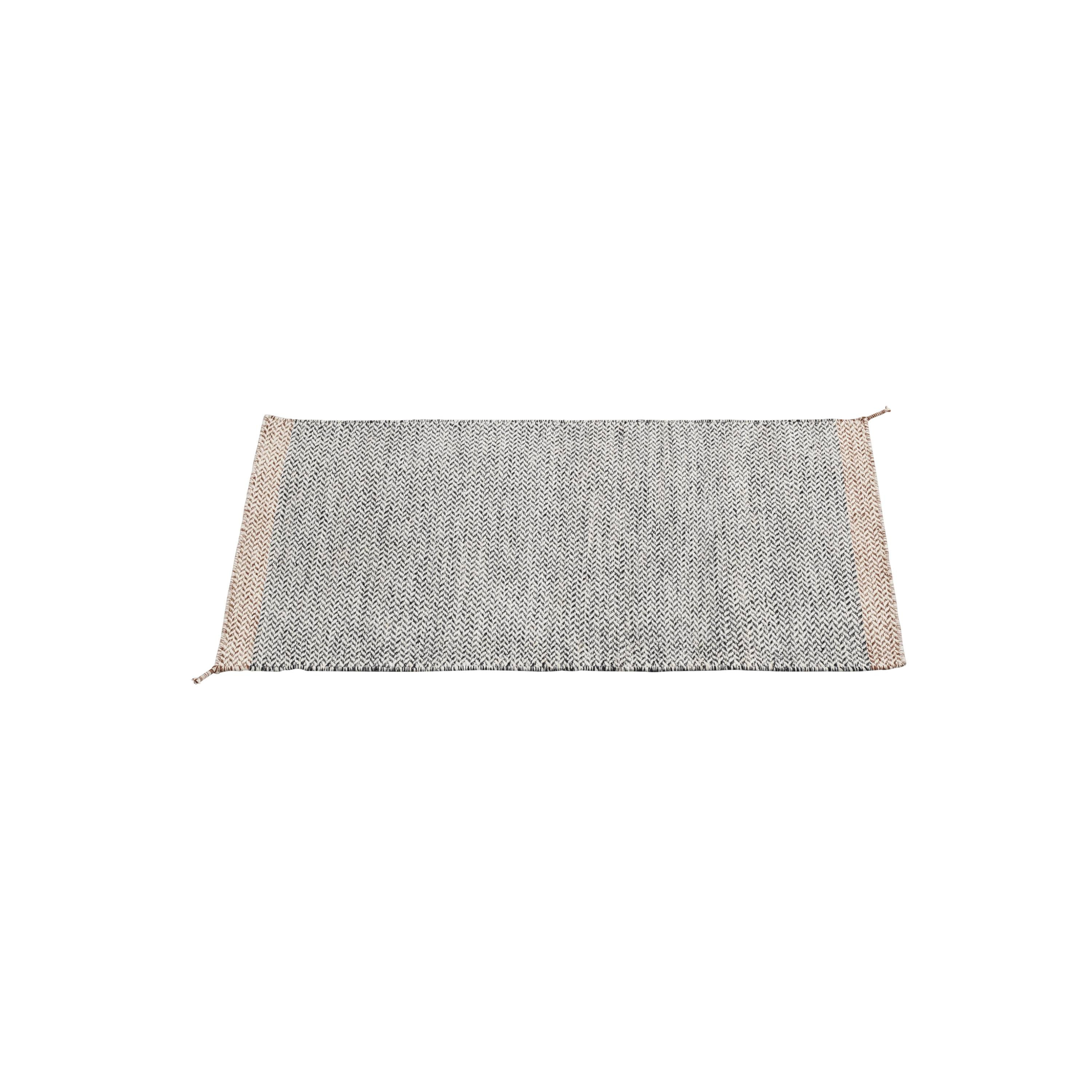 Ply Rug: Small + Black + White