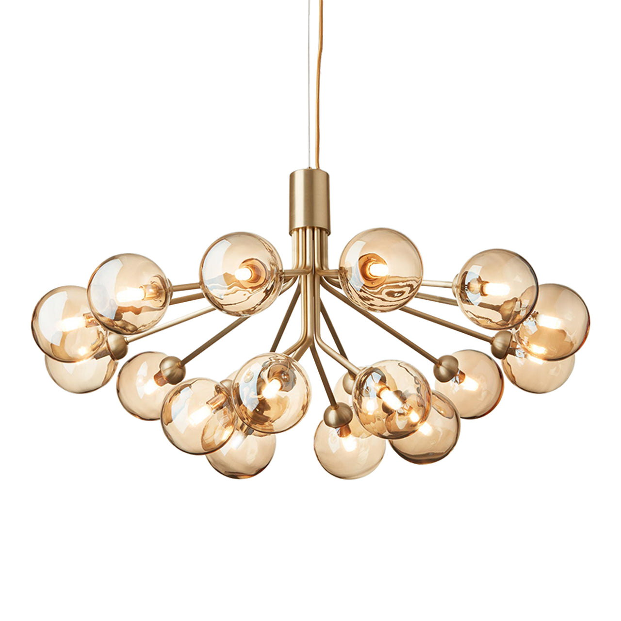 Apiales 18 Chandelier: Brushed Brass + Gold