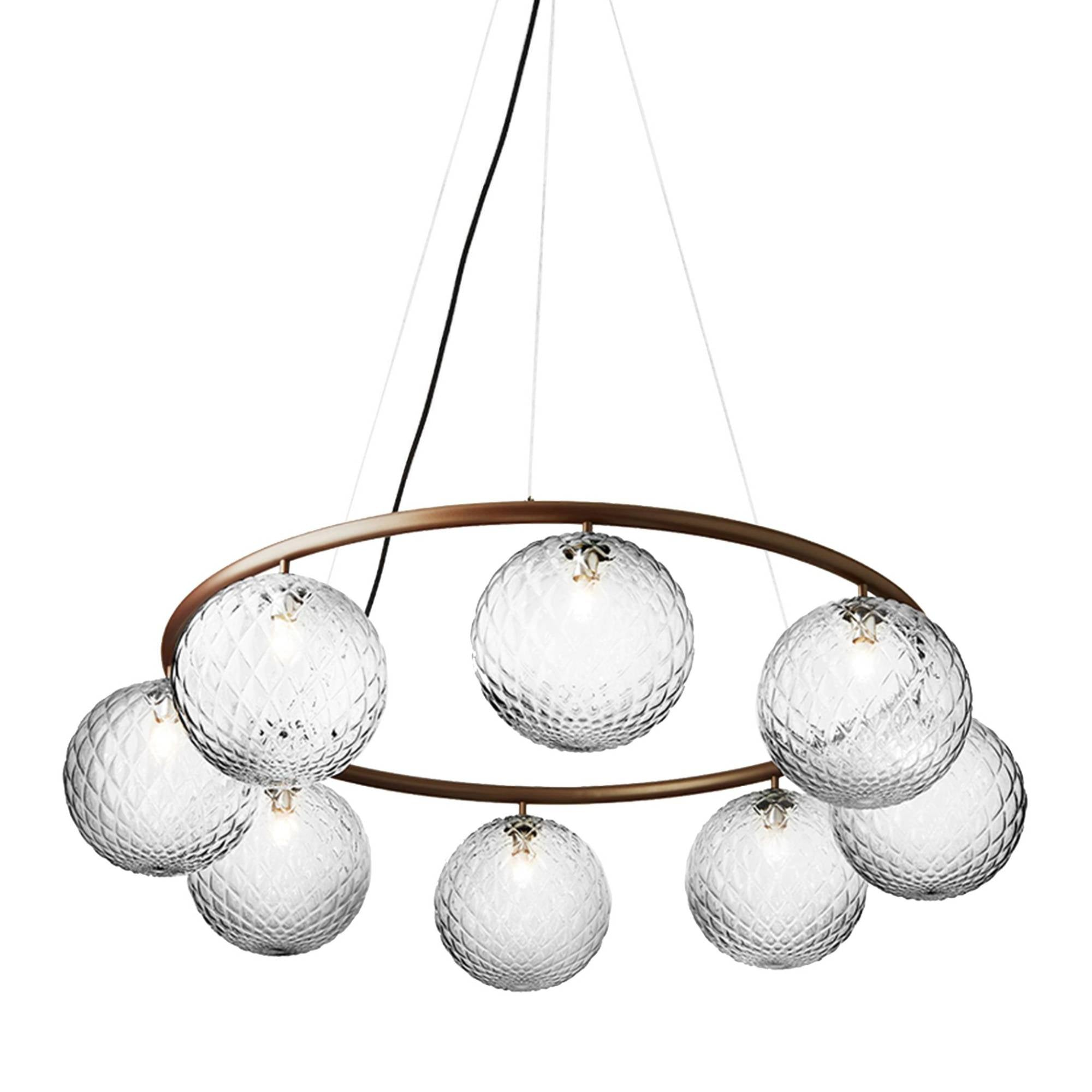 Miira 8 Circular Chandelier: Optic Clear