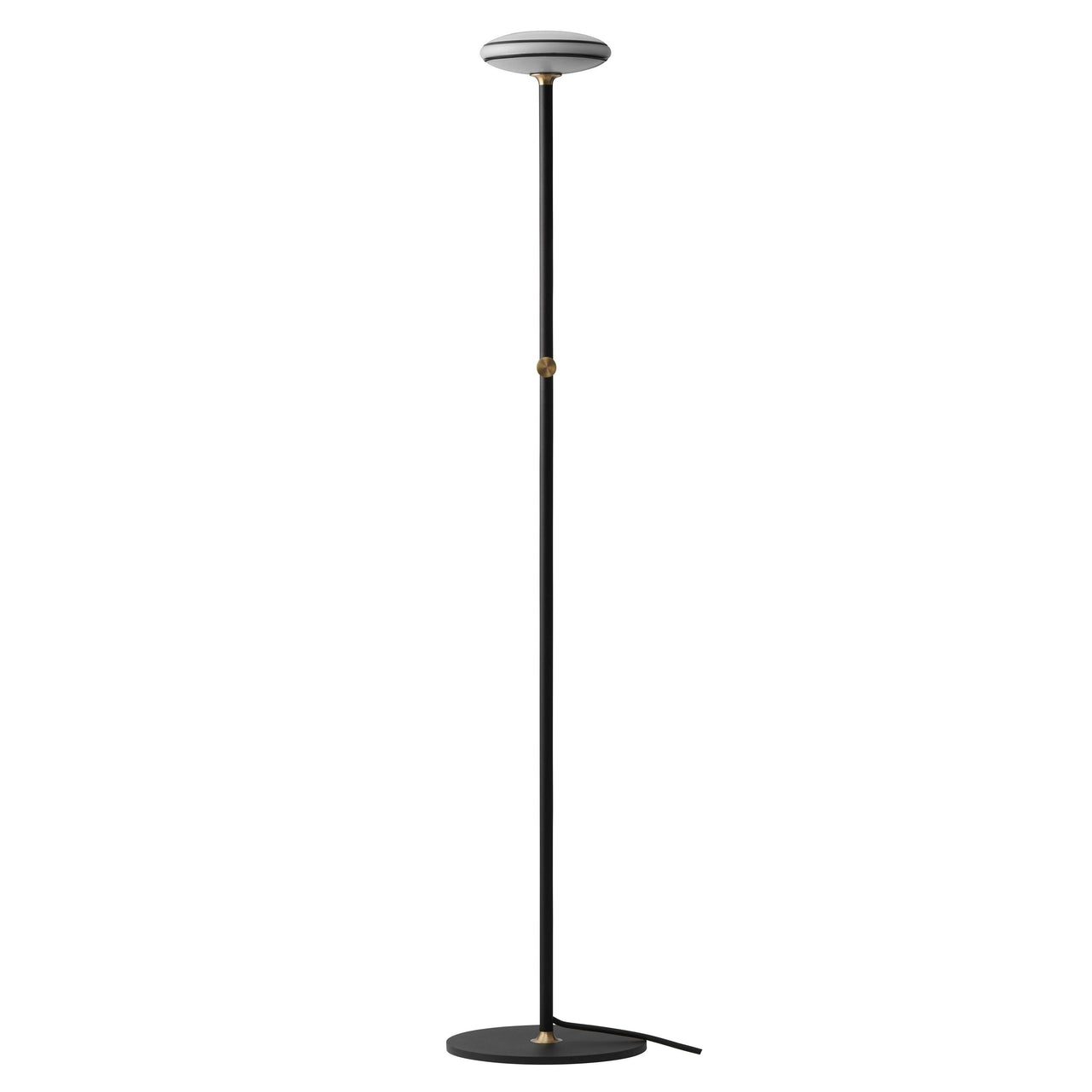 ØS1 Floor Lamp: Black + Black + Without Node