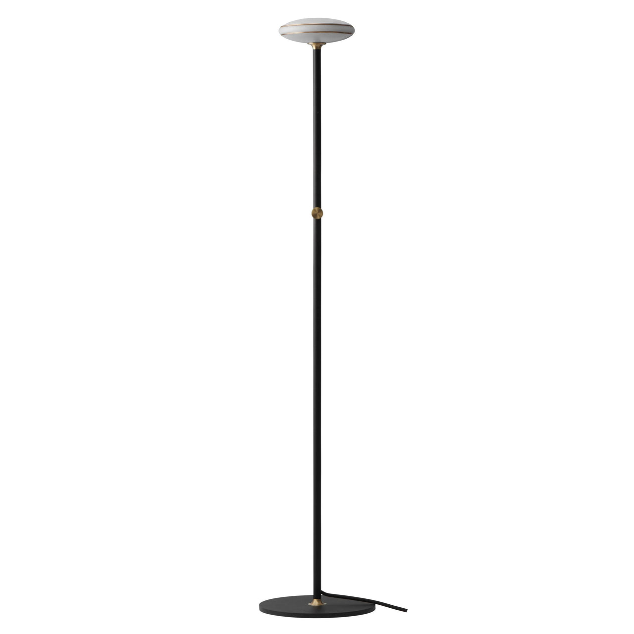 ØS1 Floor Lamp: Brass+ Black + Without Node