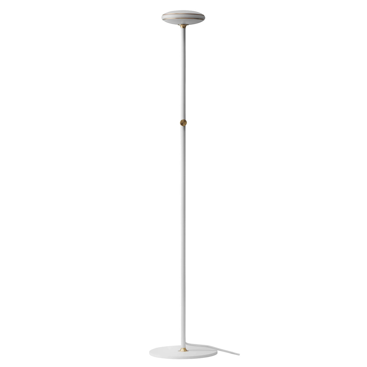 ØS1 Floor Lamp: Brass + White + Without Node