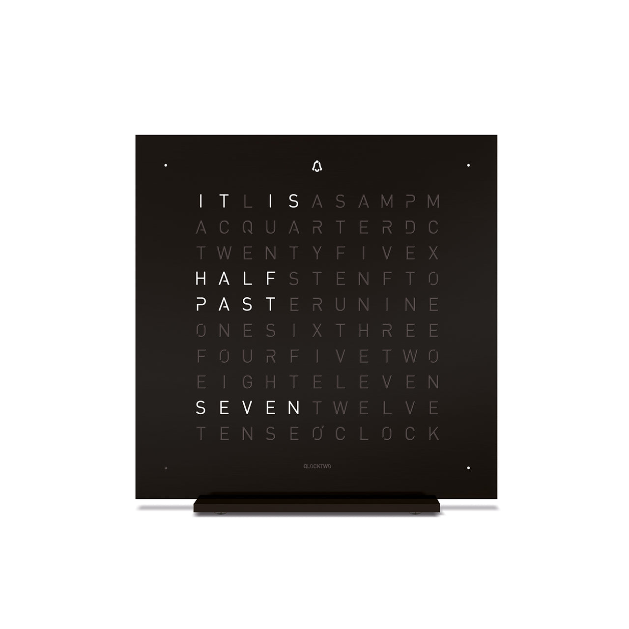 QlockTwo Touch Table Clock With Alarm