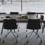 RAL Armchair: Swivel 4 Leg Base with Castors