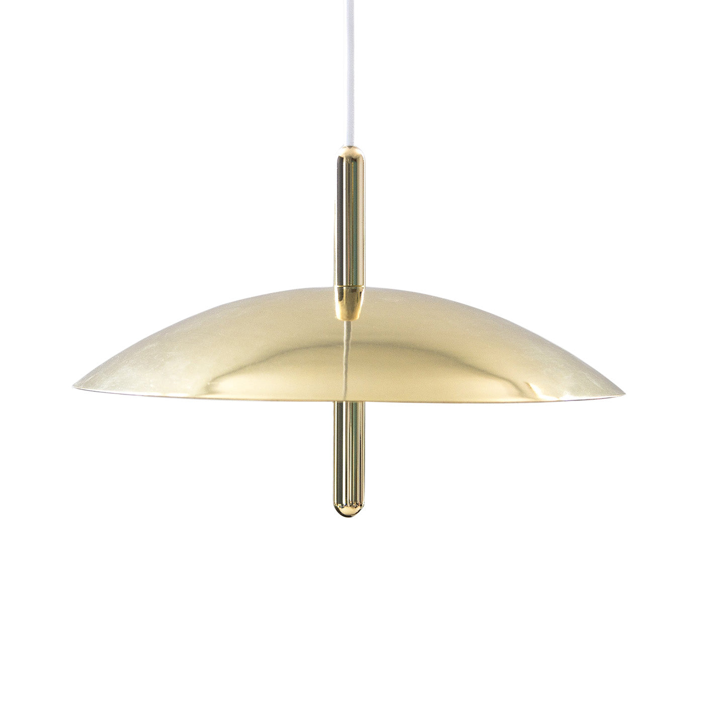 Signal Pendant Light: Brass + Brass Shade