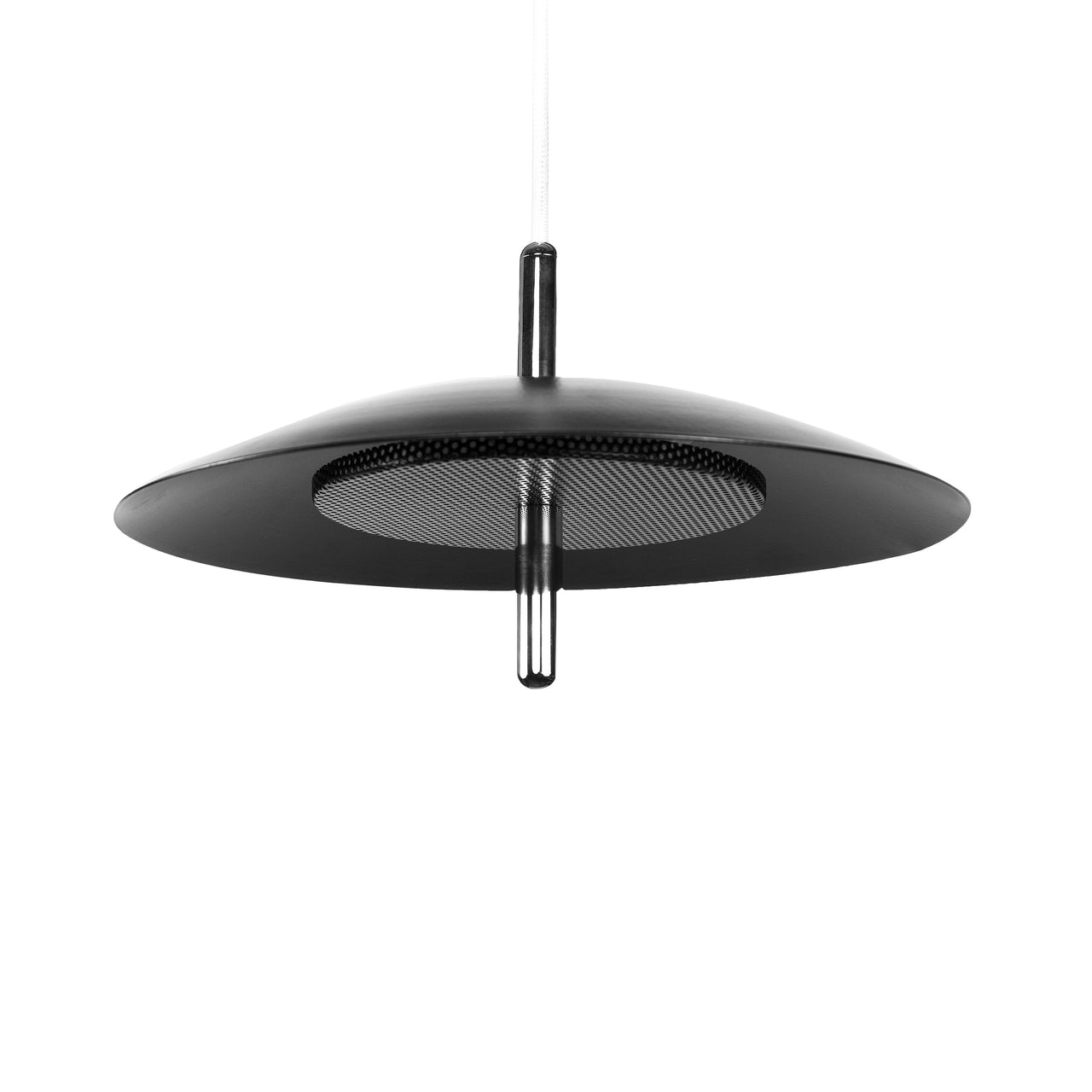 Signal Pendant Light: Nickel + Black Shade