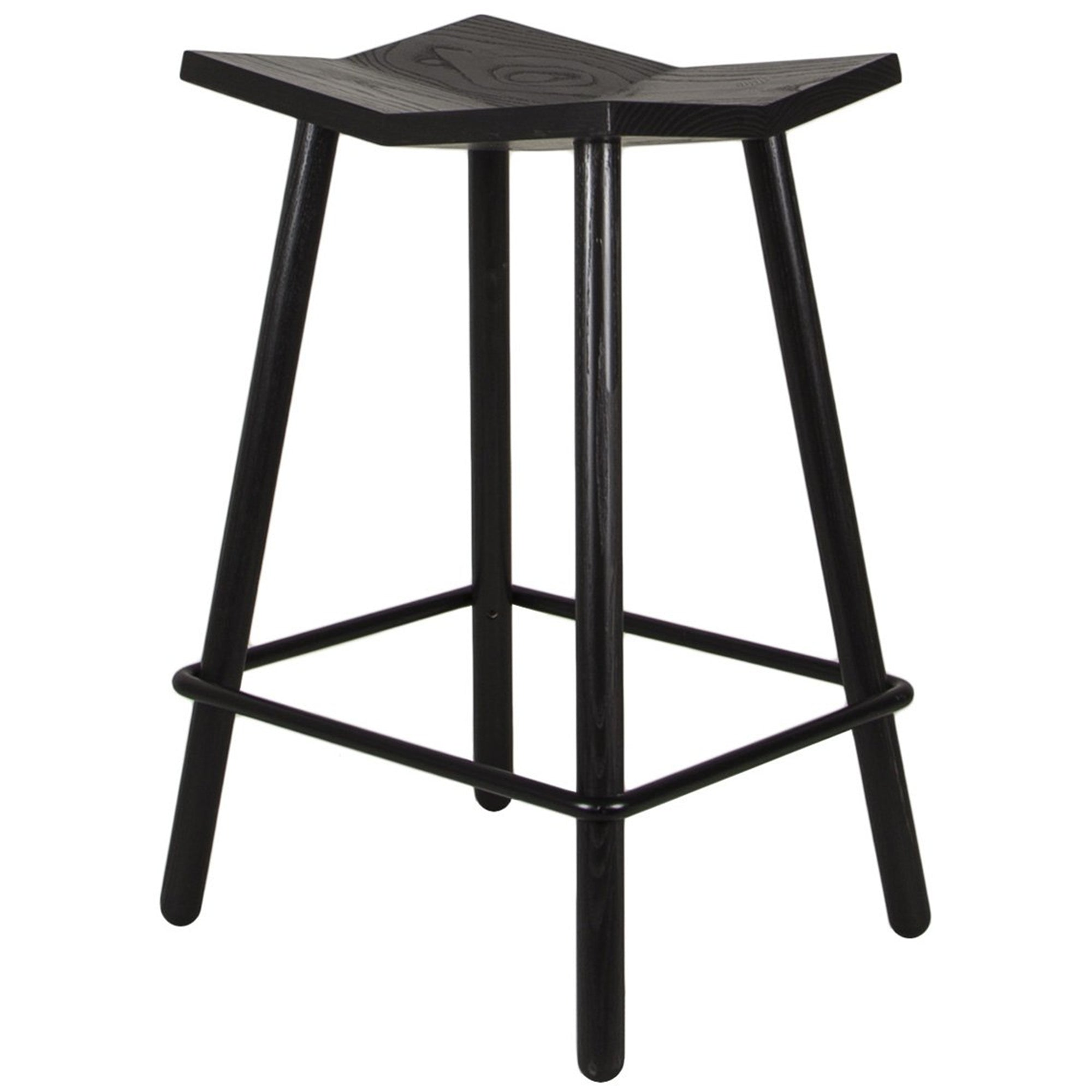 Mitre Footstool: Black + Counter