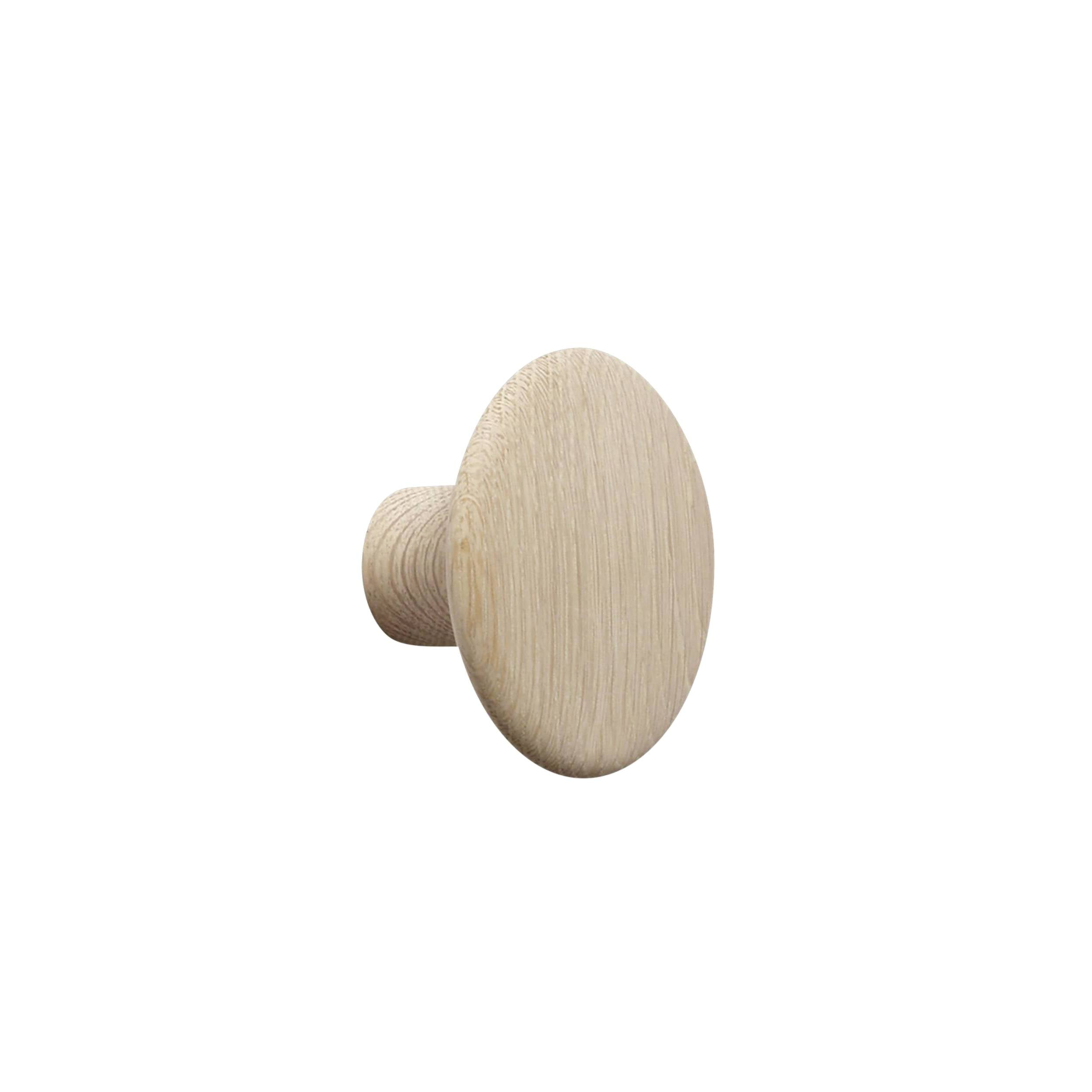The Dots Wall Hooks: Oak + Small
