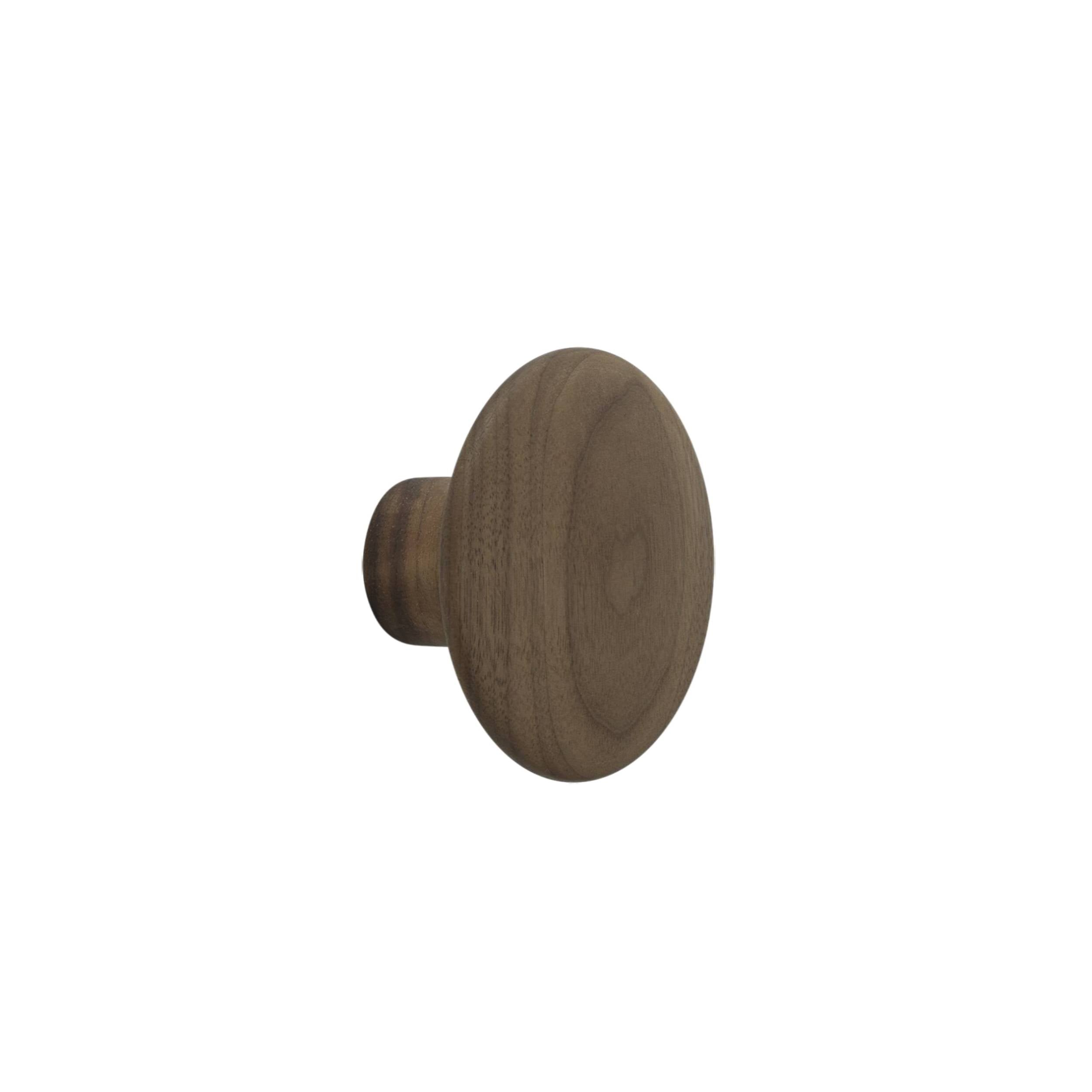 The Dots Wall Hooks: Walnut + Small