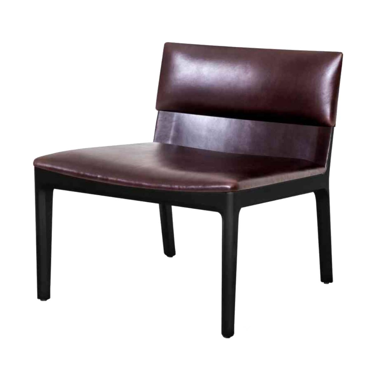 Taylor Lounge Armless Chair: Onyx Oak