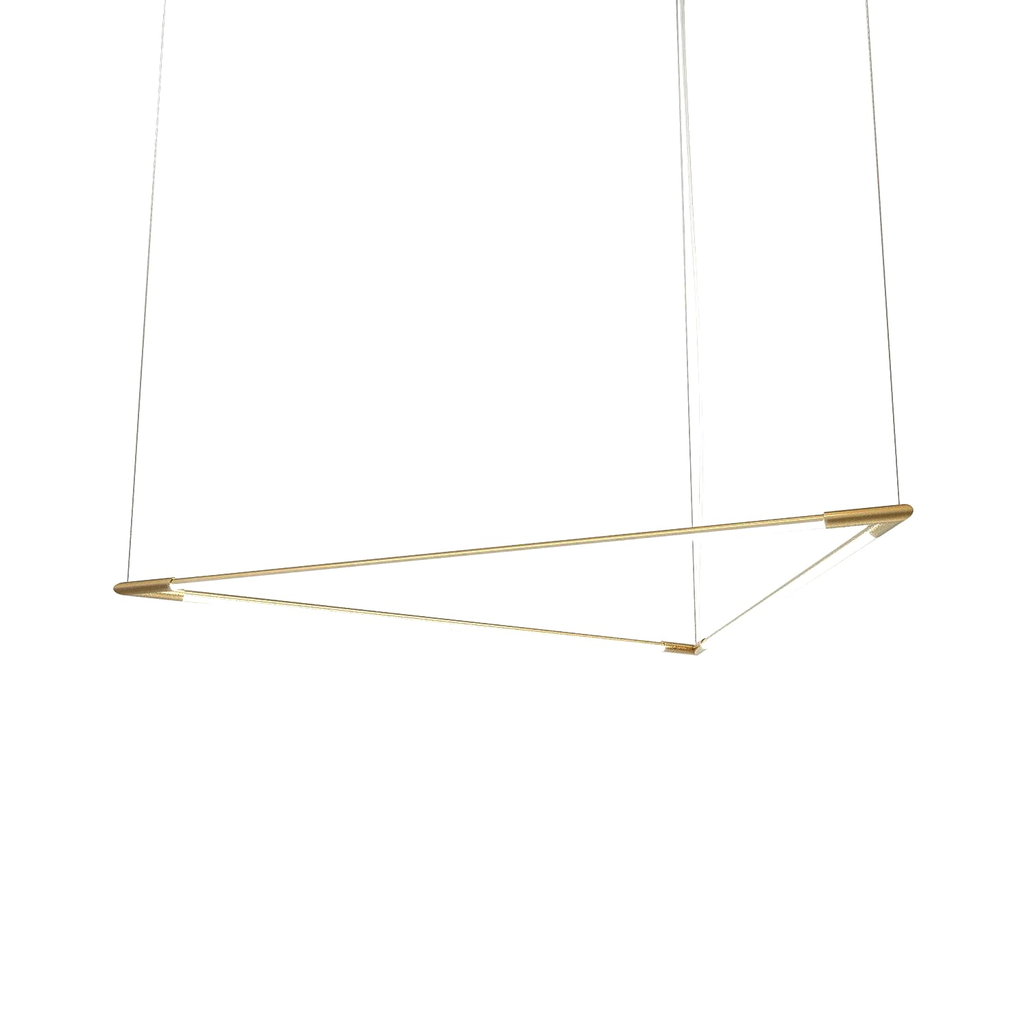 Thin Primaries Triangle: Large + Satin Brass