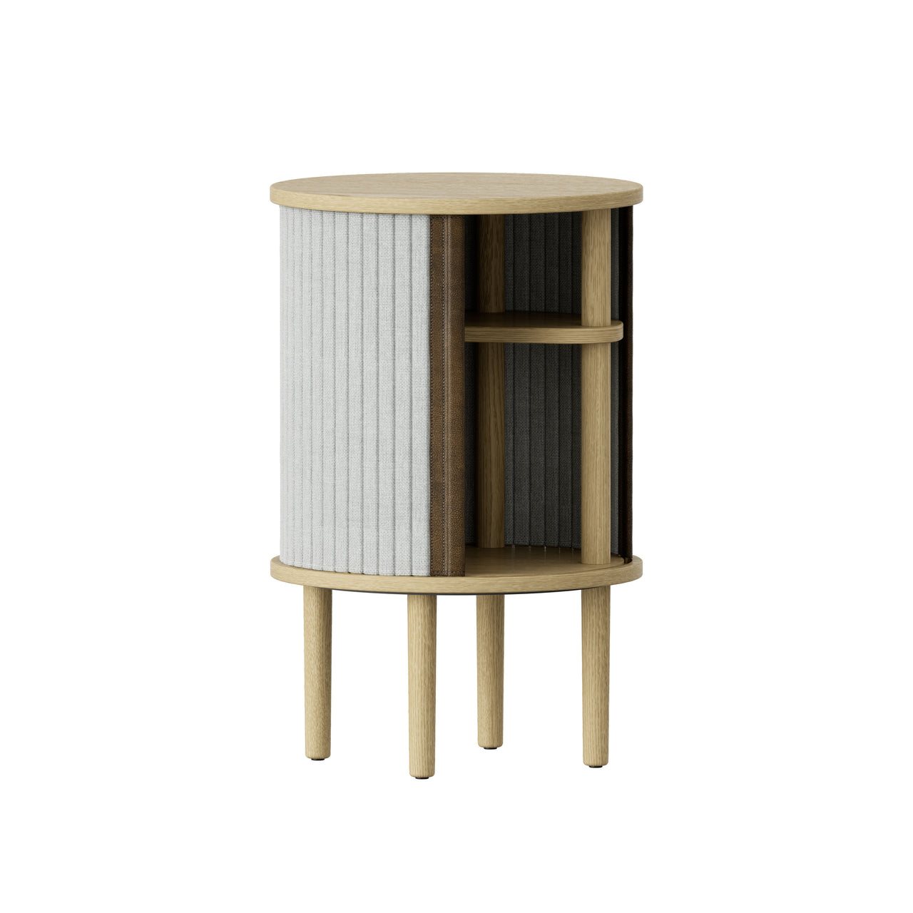 Audacious Side Table: Silver Grey