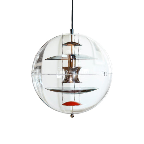 VP Globe Colored Glass Pendant Light
