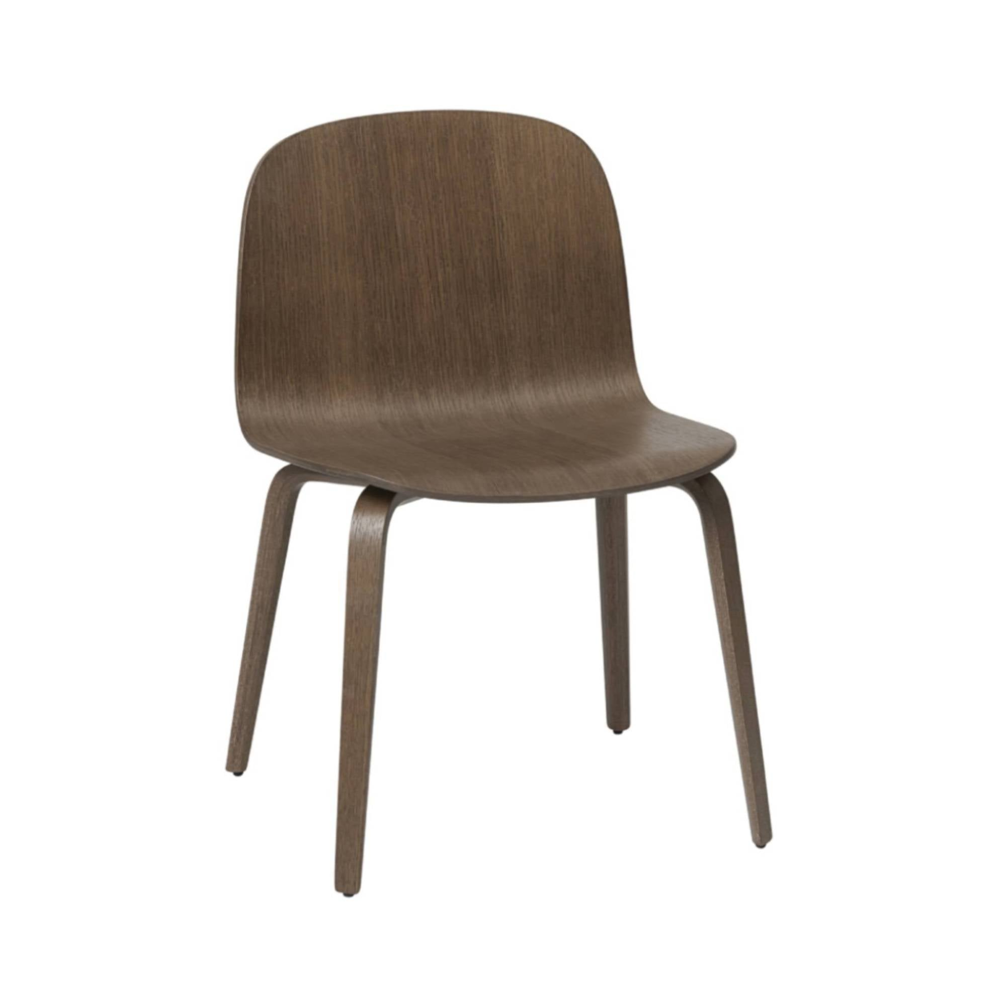 Visu Wide Chair: Wood Base: Stained Dark Brown