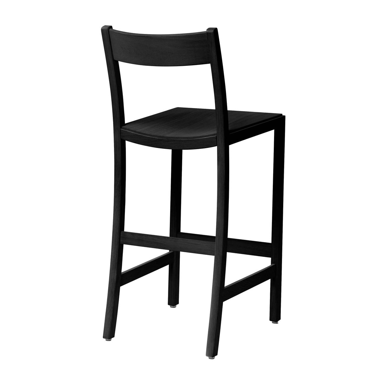 Waiter Bar + Counter Stool: Counter Height + Black Stained Beech