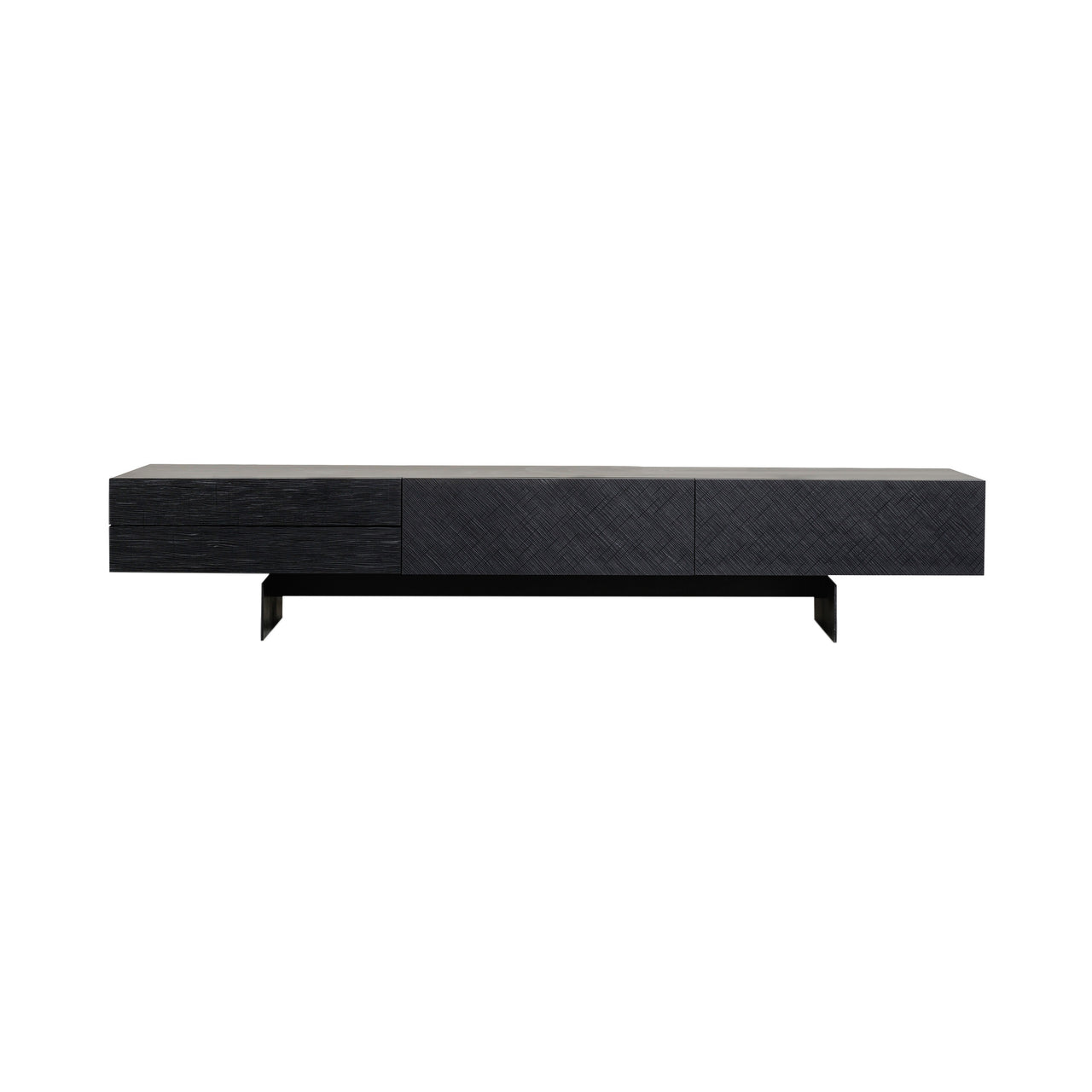 Beetle Bar + Counter Chair : Bar + Blue Grey Shell + Black Chrome Base