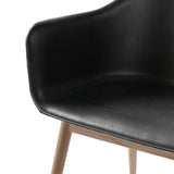 Harbour Chair: Wood Base Upholstered