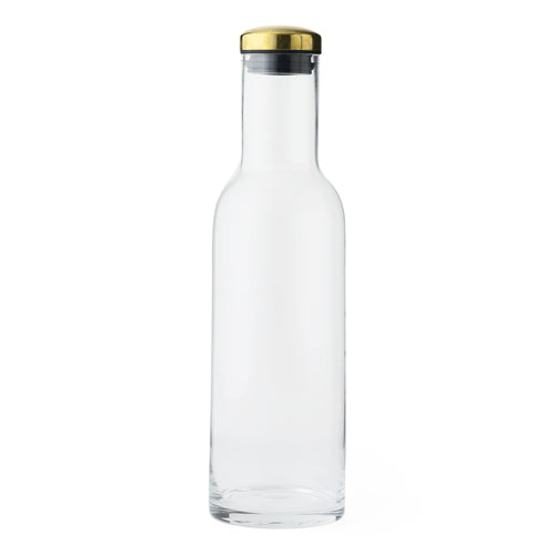 Water Bottle Carafe: Brass Lid