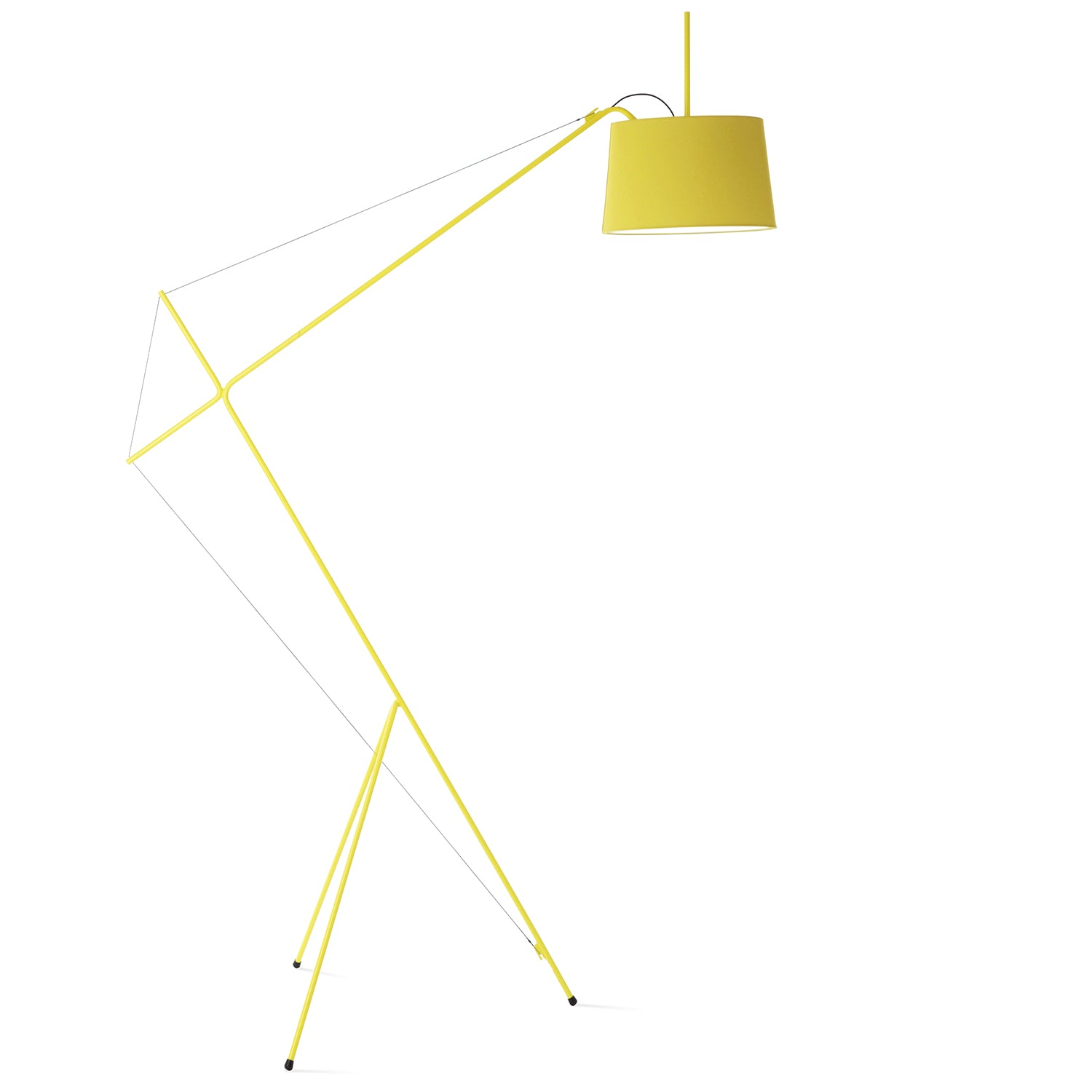 Elisabeth Trivet Floor Lamp: Lemon Yellow