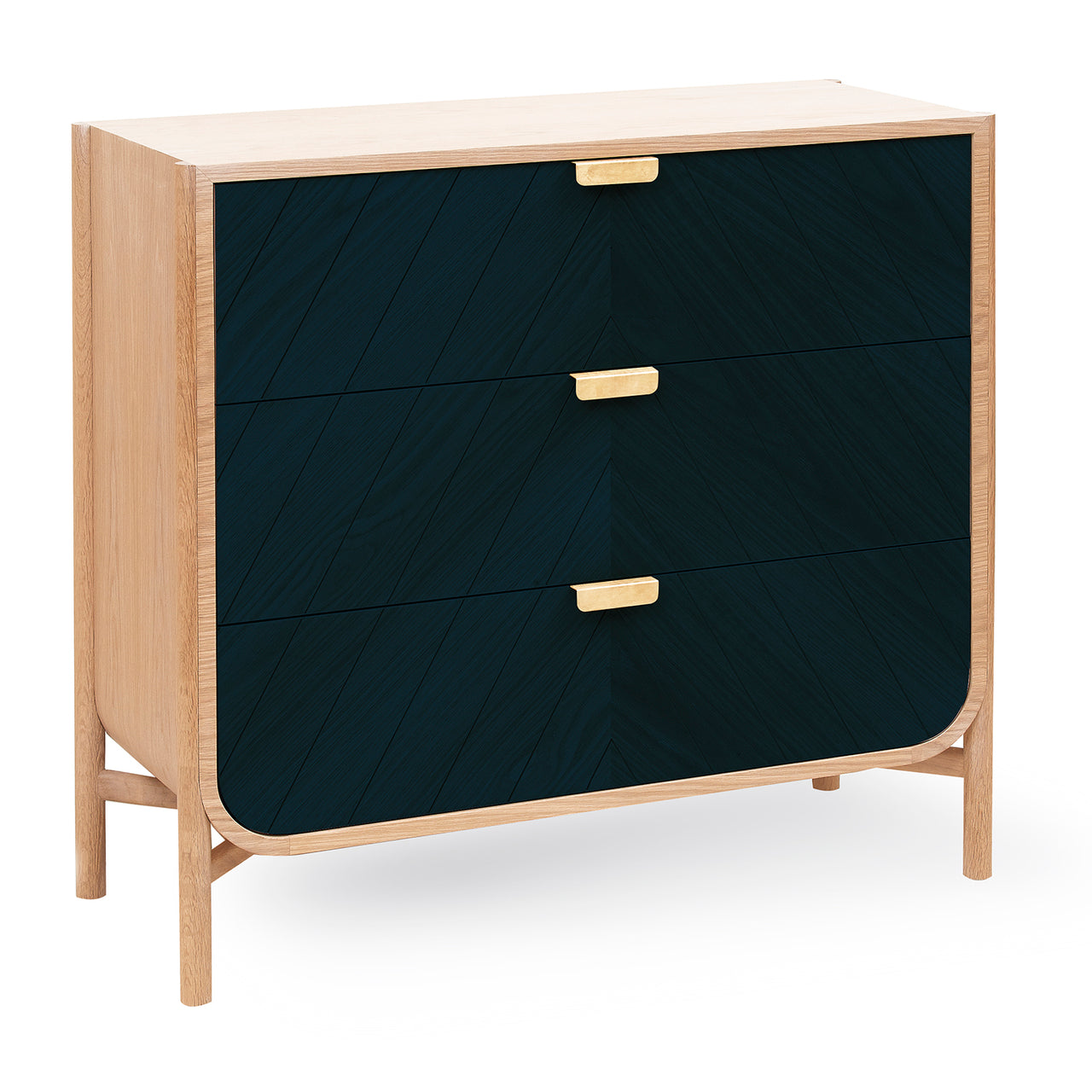 Marius Chest of Drawers: Petrol Blue
