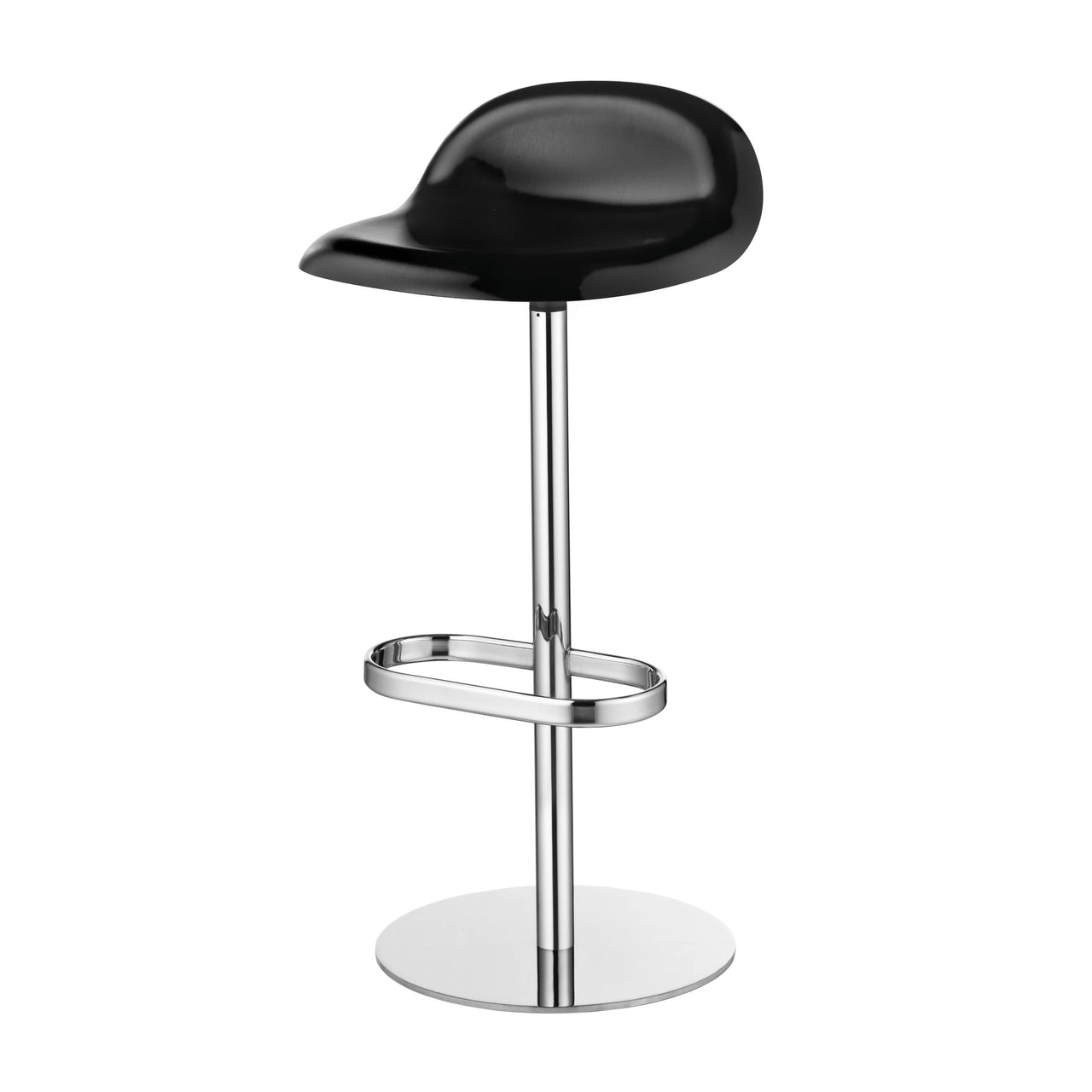 3D Bar Stool: Swivel Base + Black Stained Beech