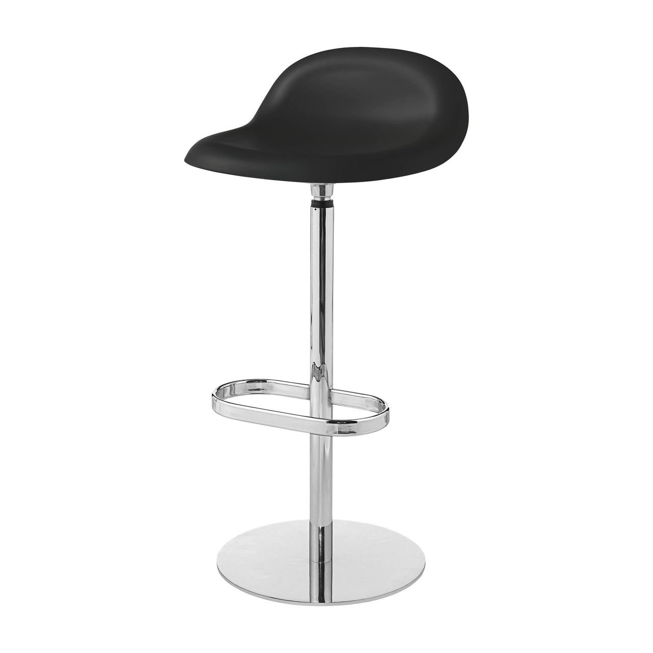 3D Bar Stool: Swivel Base + Black
