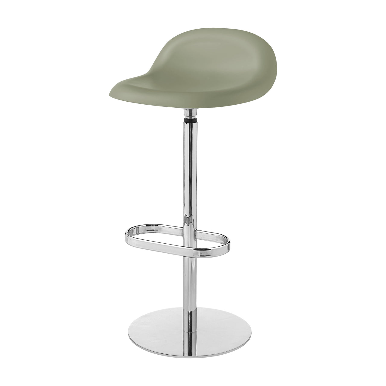 3D Bar Stool: Swivel Base + Mistletoe Green