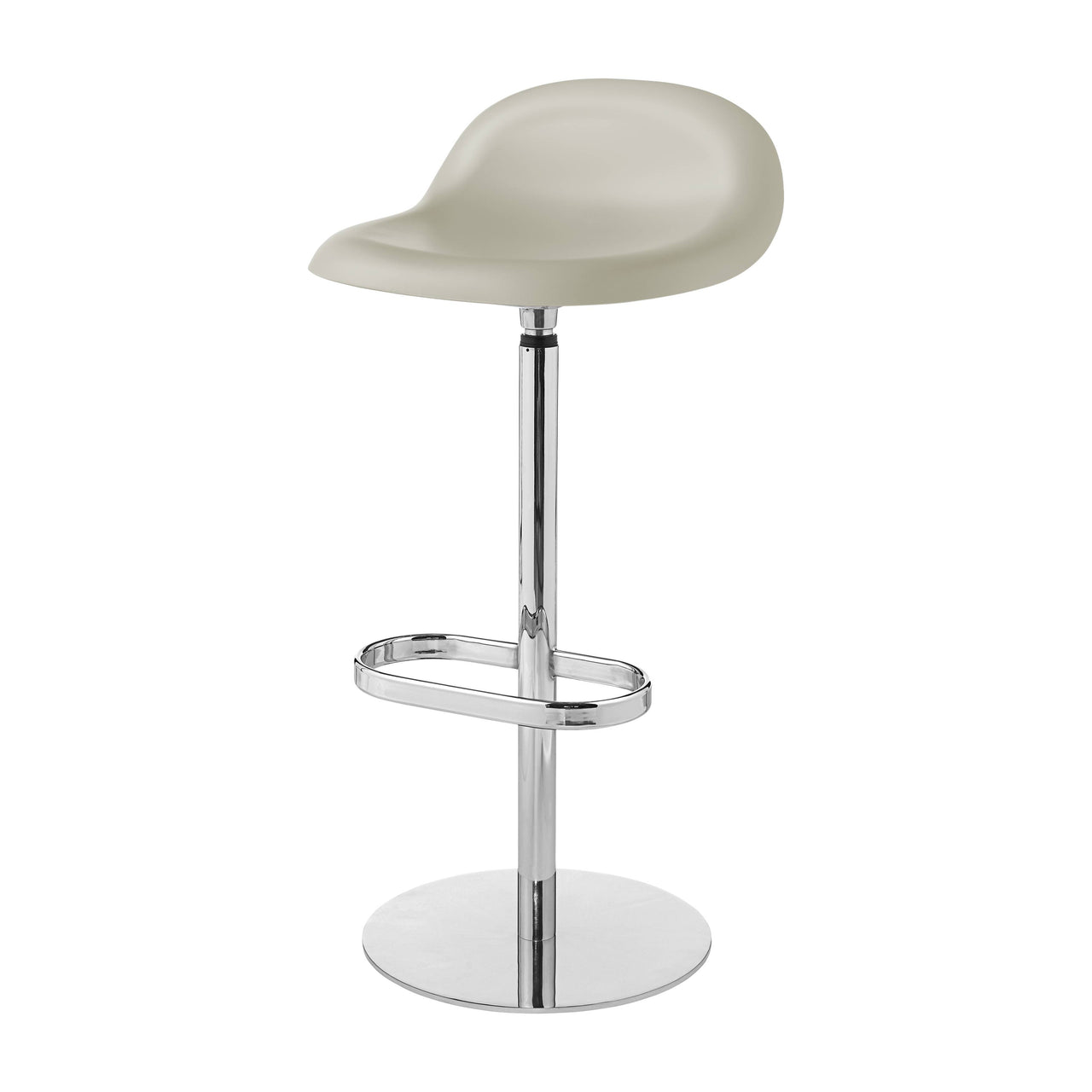3D Bar Stool: Swivel Base + Moon Grey