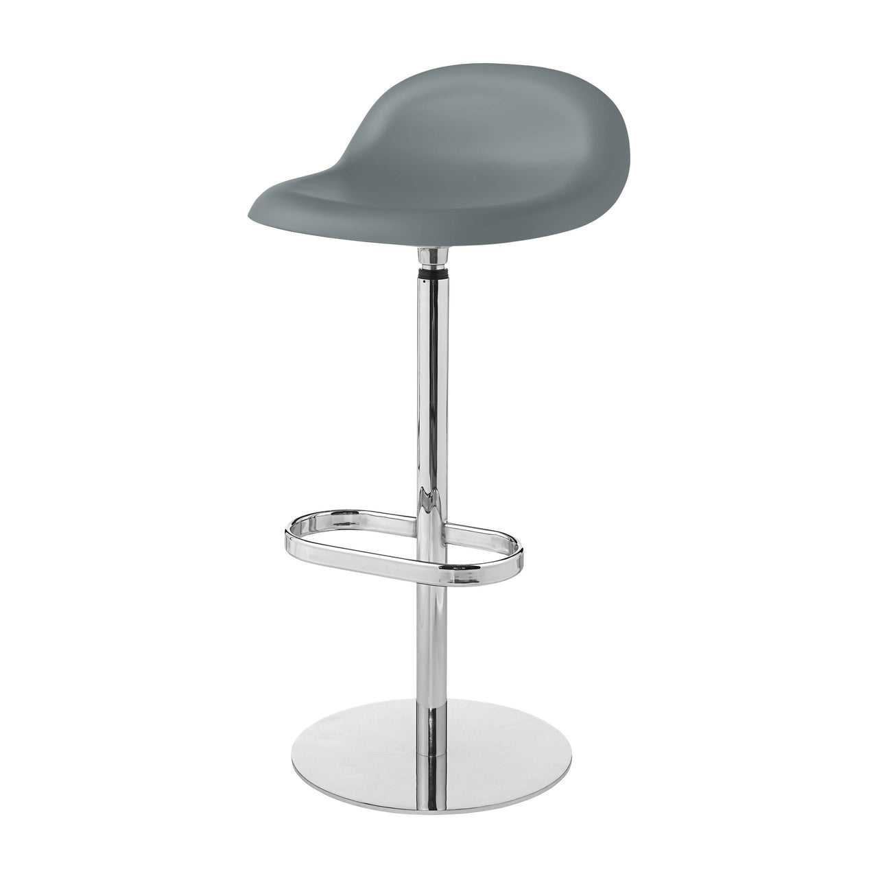 3D Bar Stool: Swivel Base + Rainy Grey