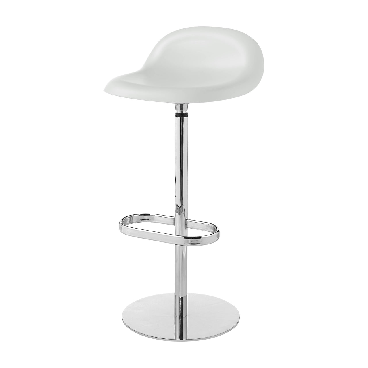 3D Bar Stool: Swivel Base + Soft White