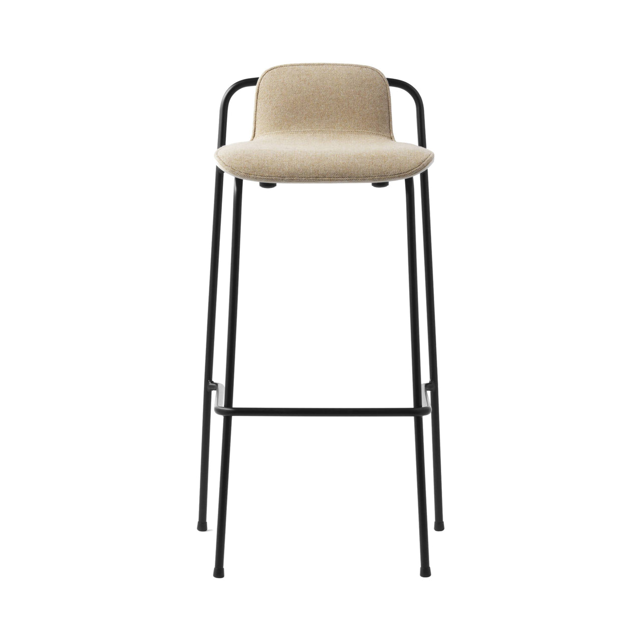 Studio Bar + Counter Stool: Front Upholstered + Bar (75cm) + Oak Shell