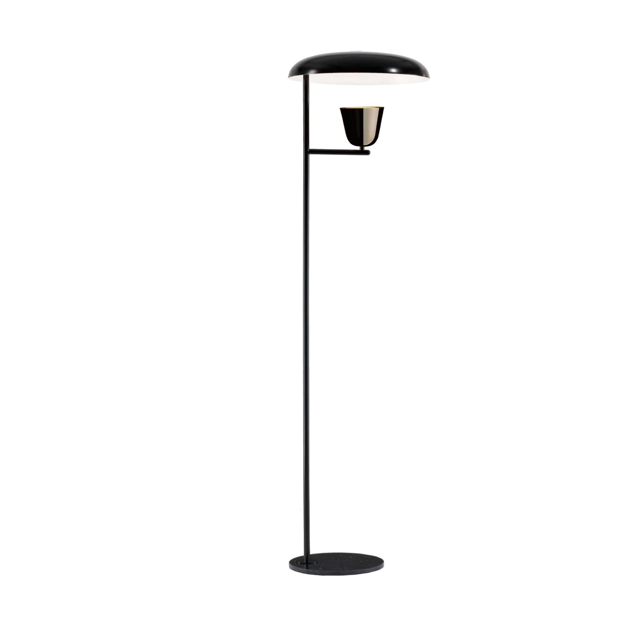 Lightolight Floor Lamp: Black + Black Chrome