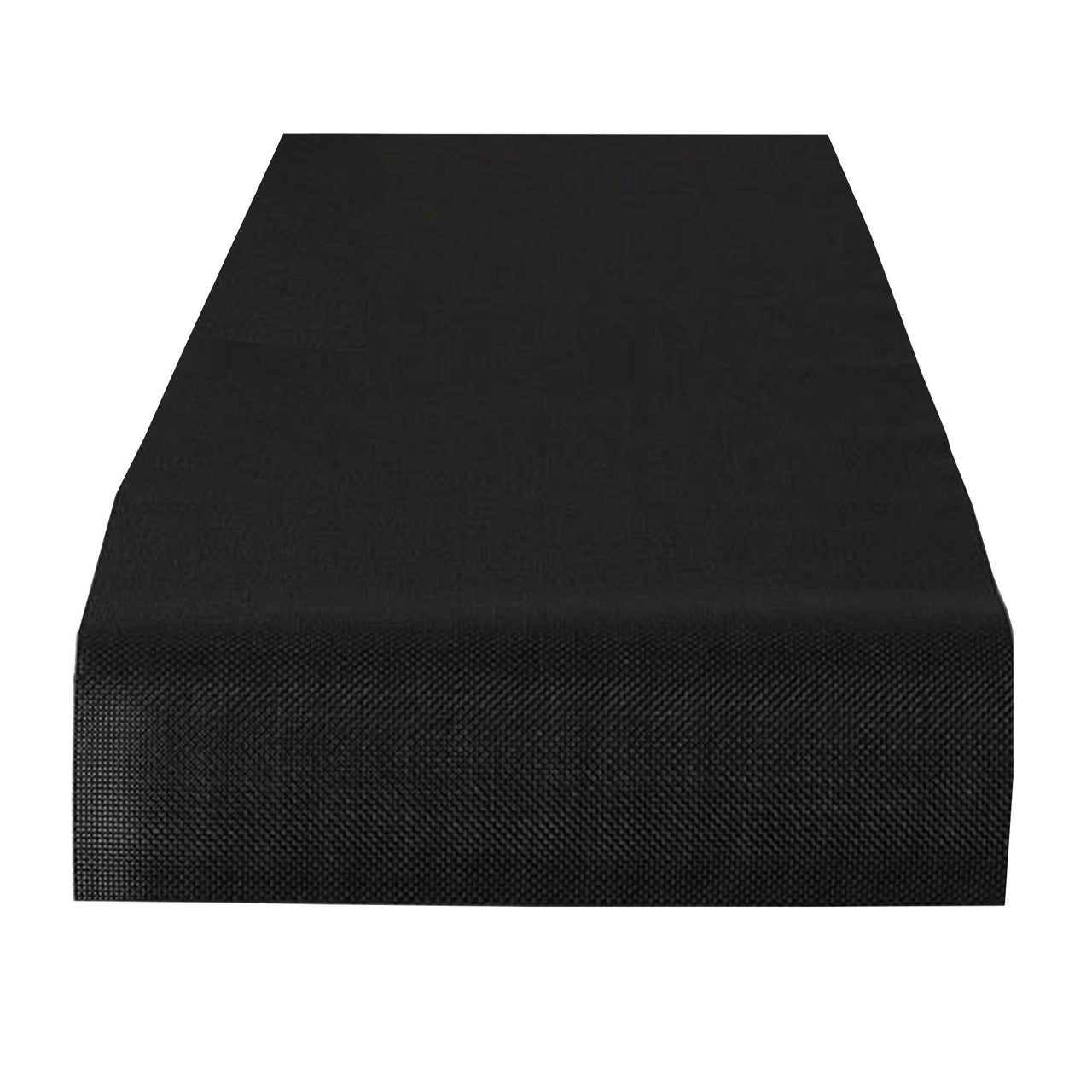 Mini Basketweave Table Runner: Black
