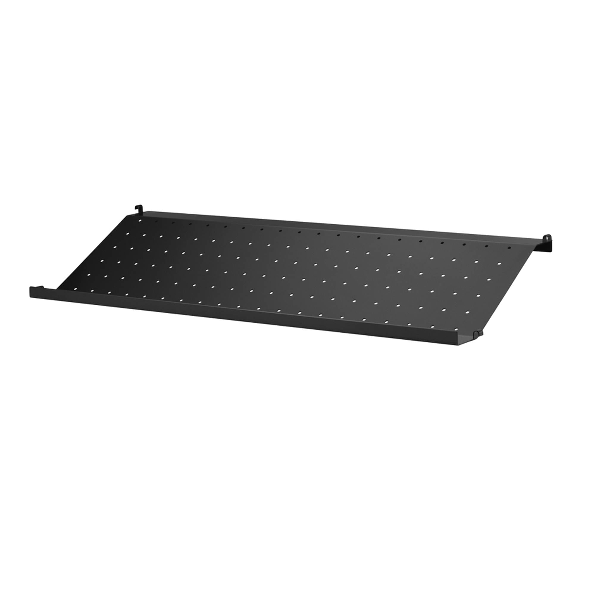 String System: Shoe Shelf + 78 x 30 cm + Black