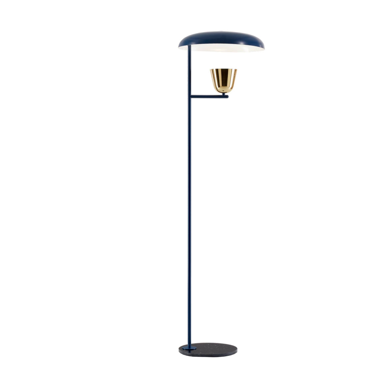 Lightolight Floor Lamp: Blue + Brushed Brass