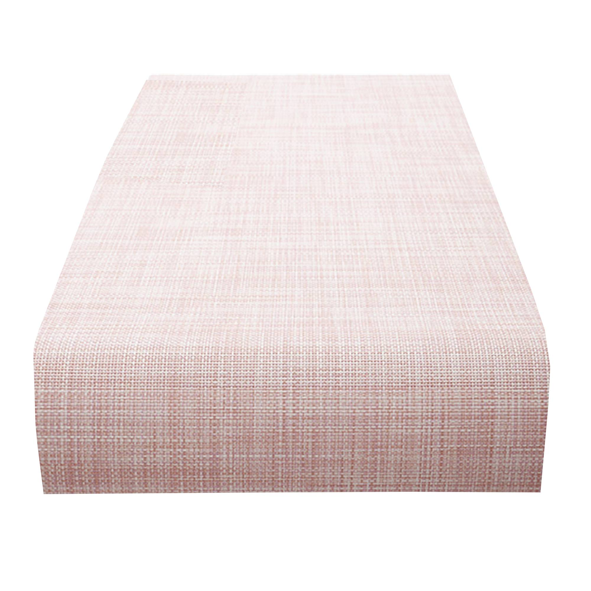Mini Basketweave Table Runner: Blush