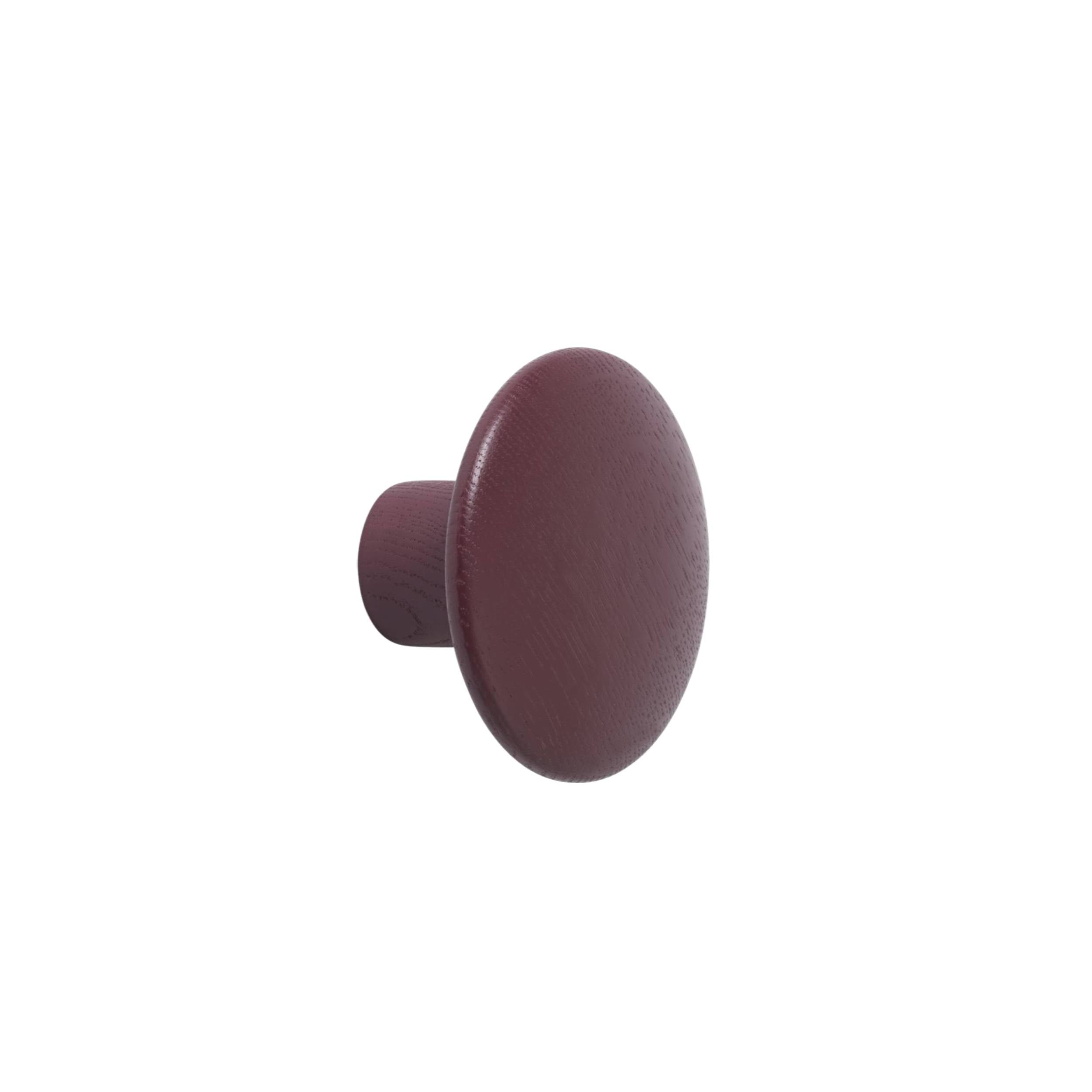 The Dots Wall Hooks: Burgundy + Small